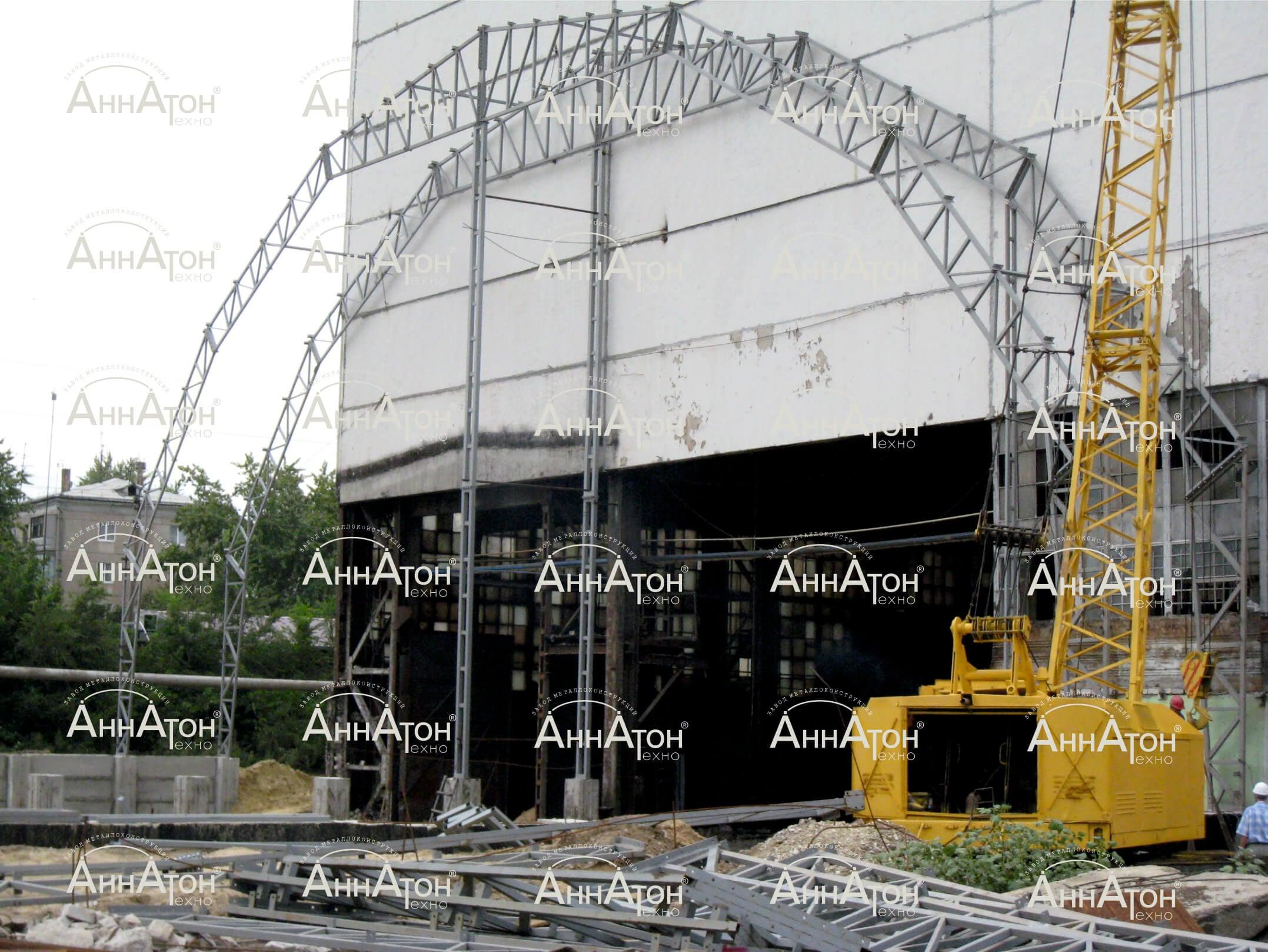 схема установки ферм для ангара
